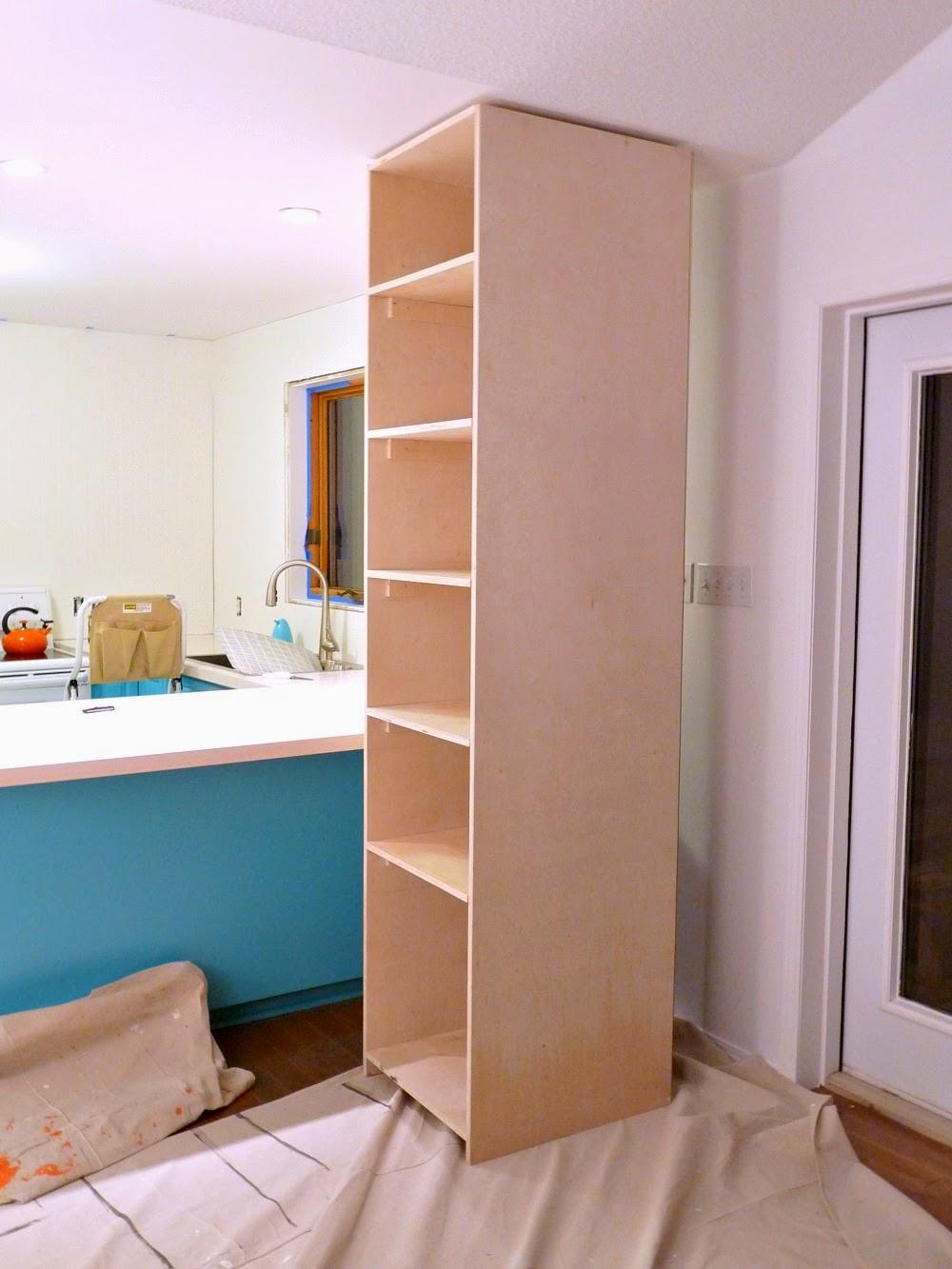 Kitchen Progress DIY Pantry Cabinet Working Around the