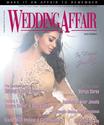 Shriya Saran on the cover of Wedding Affair - August