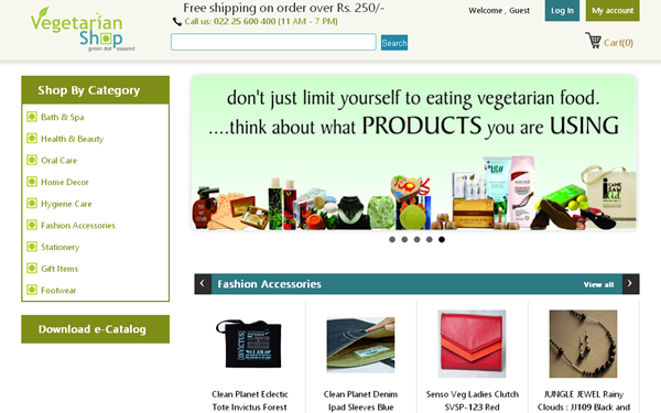 VegetarianShop.in Website Review