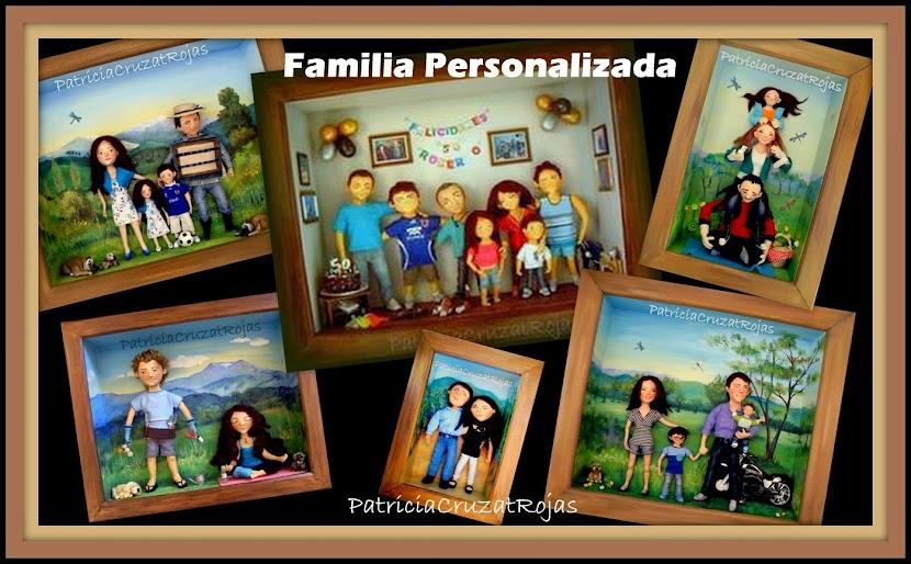 FAMILIA PERSONALIZADA, CUADRO CON PROFUNDIDAD