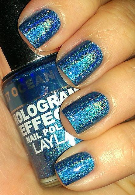 blue linear holo