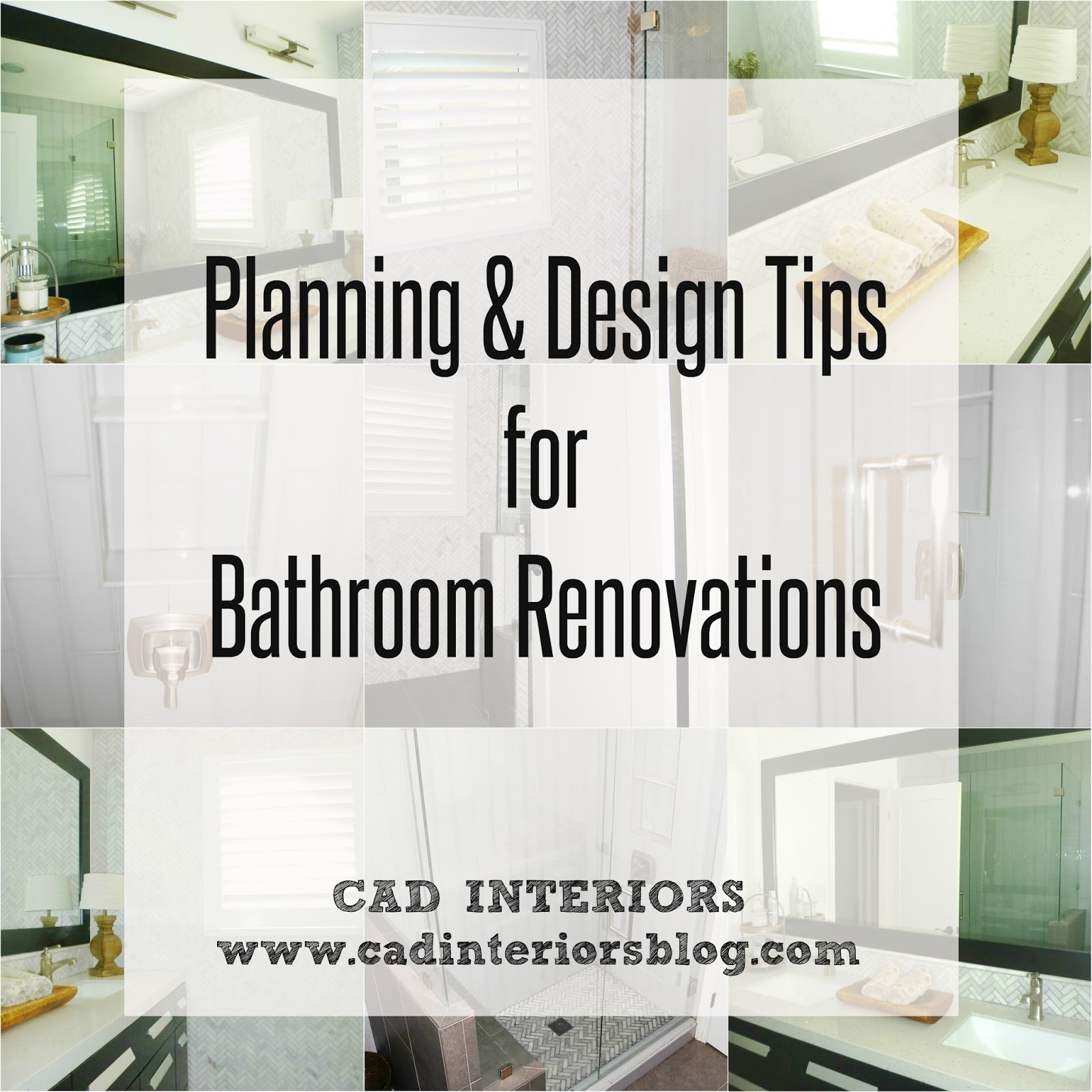 Bathroom Renovation Tips Part 1 {Budget, Layout, Function, Inspection}. CAD  INTERIORS Bathroom Remodel Interior Design ...