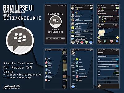 BBM + BBM2 Mod Theme Lipse UI Super Fast dan Simple Versi 2.8.0.21 Apk (BBM Android)