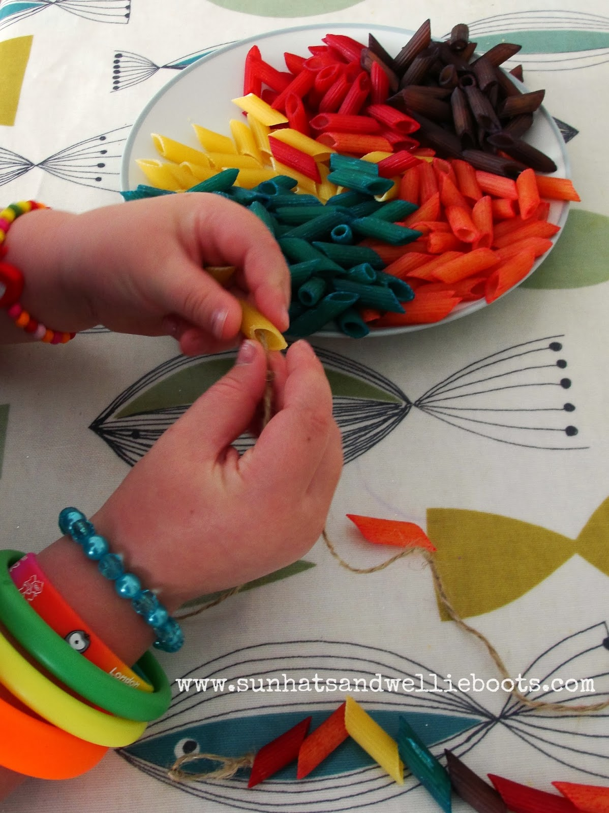 Sun Hats & Wellie Boots: Make Your Own Rainbow Sparkly Pasta Shapes ...