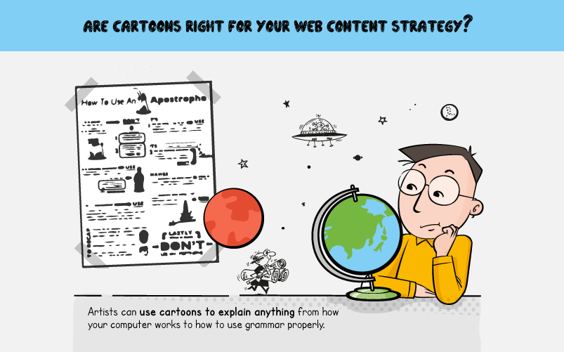 Are Cartoons Right For Your Social Media Content Strategy - #infographic
