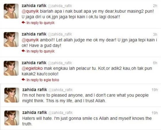 Sebab isu skandal, zahida rafik mengamuk di twitter?
