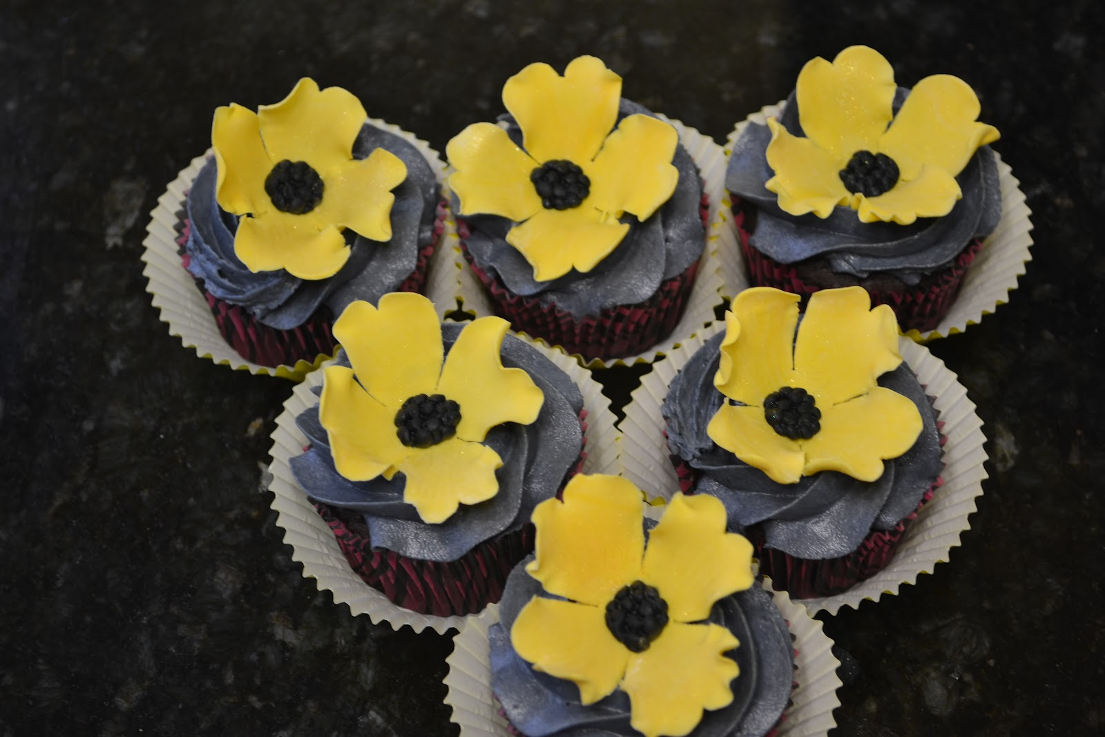 Cakes by lala yellow flower birthday cupcakes yellow flower birthday cupcakes mightylinksfo