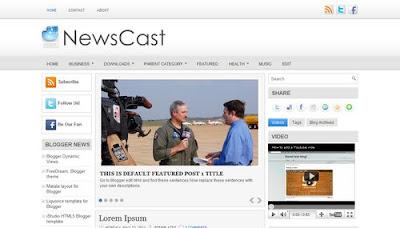 NewsCast Blogger Template
