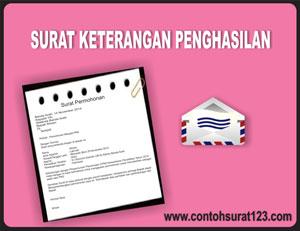 Gambar untuk Contoh Surat Keterangan Penghasilan
