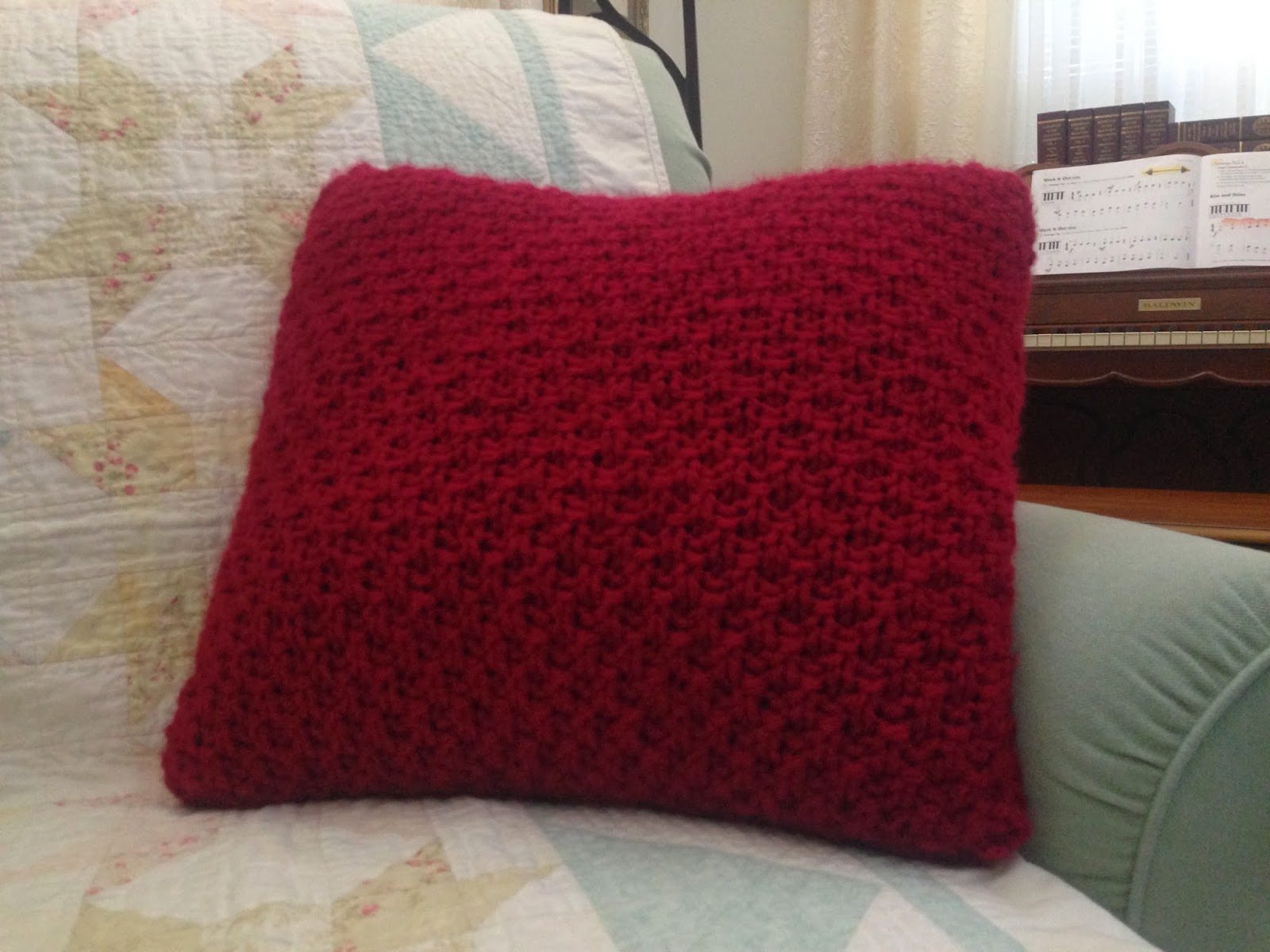 Chunky Knit Pillow Pattern : Chucklemops: Chunky Knit Pillow Cover