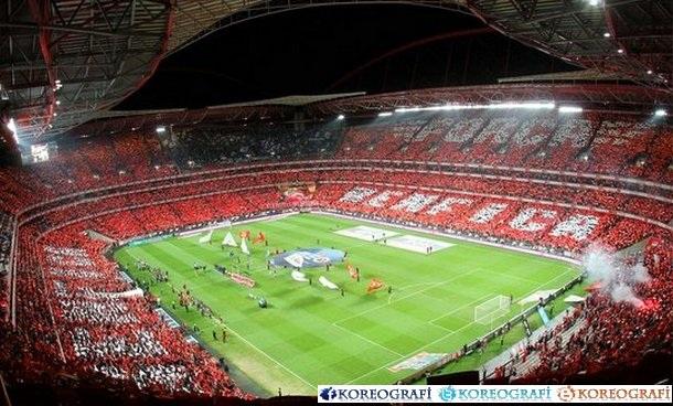 Benfica porto 13 01 2013 tüm stad koreografi