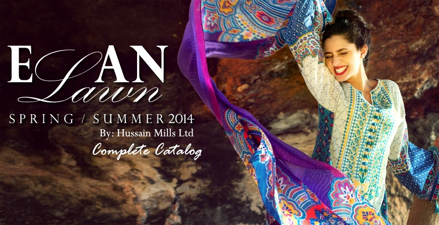 ELANLawnSpring SummerCollection2014 wwwfashionhuntworldblogspotcom 001 - Elan Lawn Spring Collection 2014 By Khadijah Shah