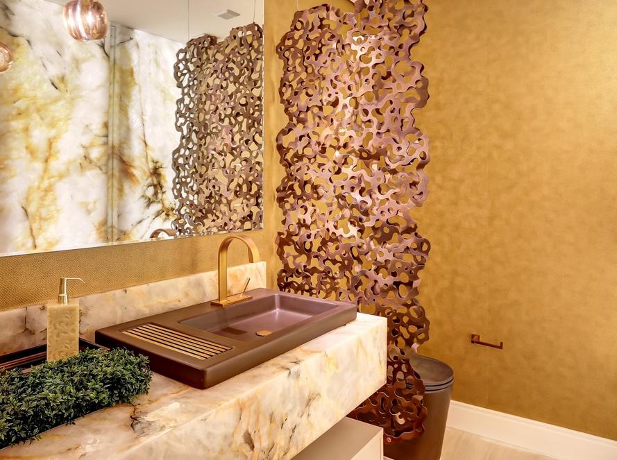 decoracao bancada lavabo : decoracao bancada lavabo:Mármore em lavabos e banheiros – veja bancadas e pisos com diversos