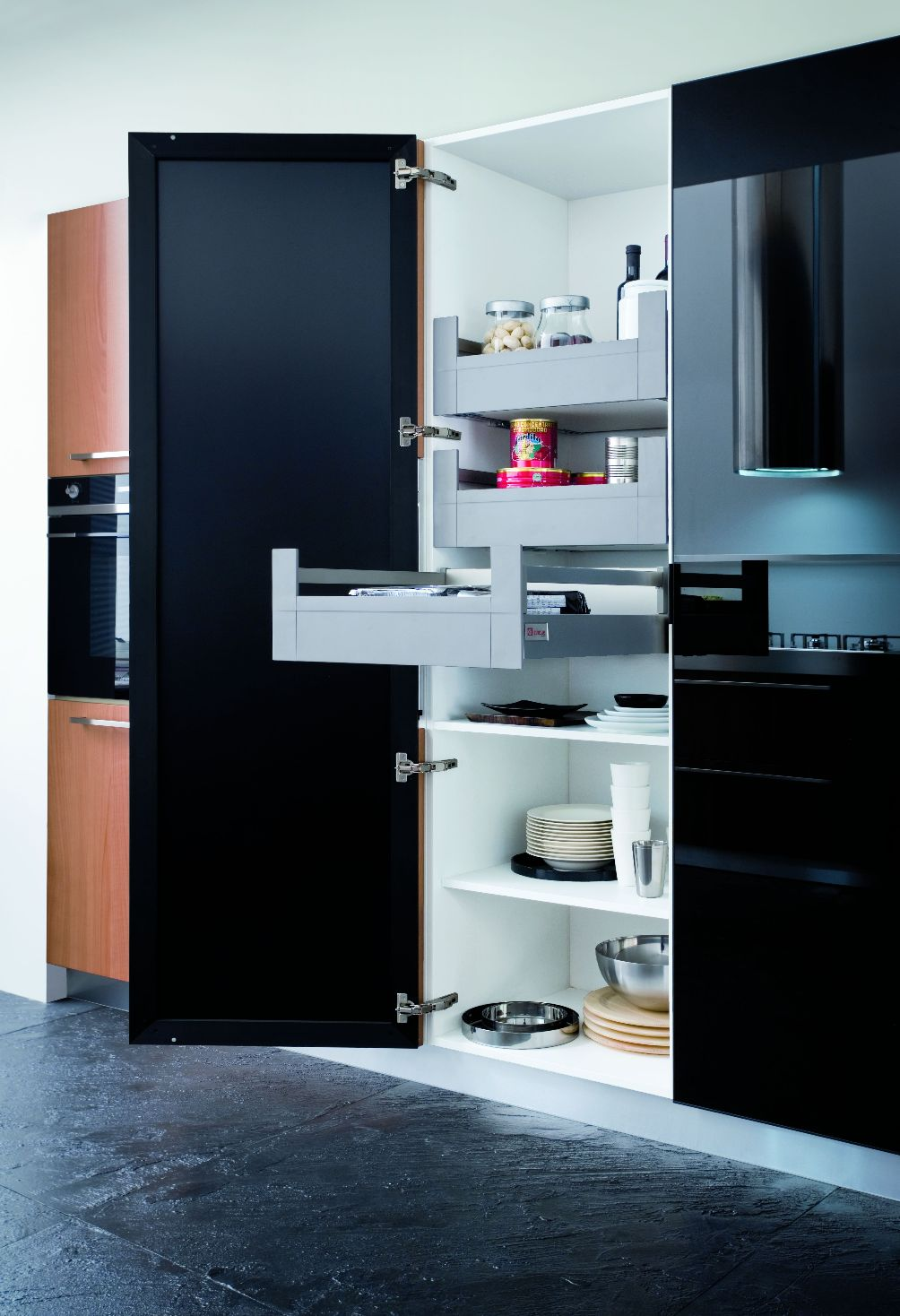 cuisine parall le. Black Bedroom Furniture Sets. Home Design Ideas