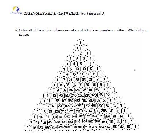 Pascals Triangle Worksheet