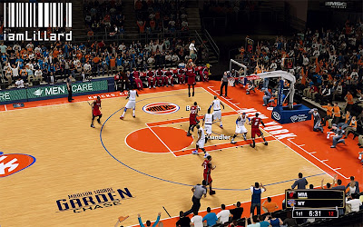NBA 2K13 New York Knicks New Court Design