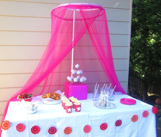 Simple Food Ideas For A LIttle Girls Party And Pretty Table