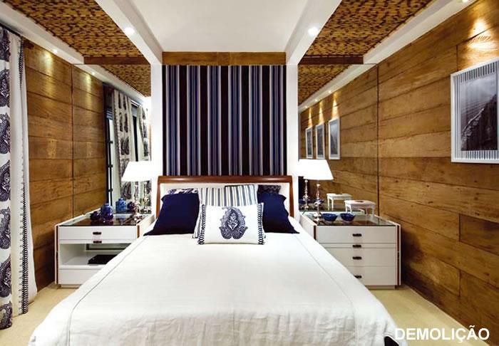decoracao de interiores em casas de madeira:Parede De Madeira Demolicao