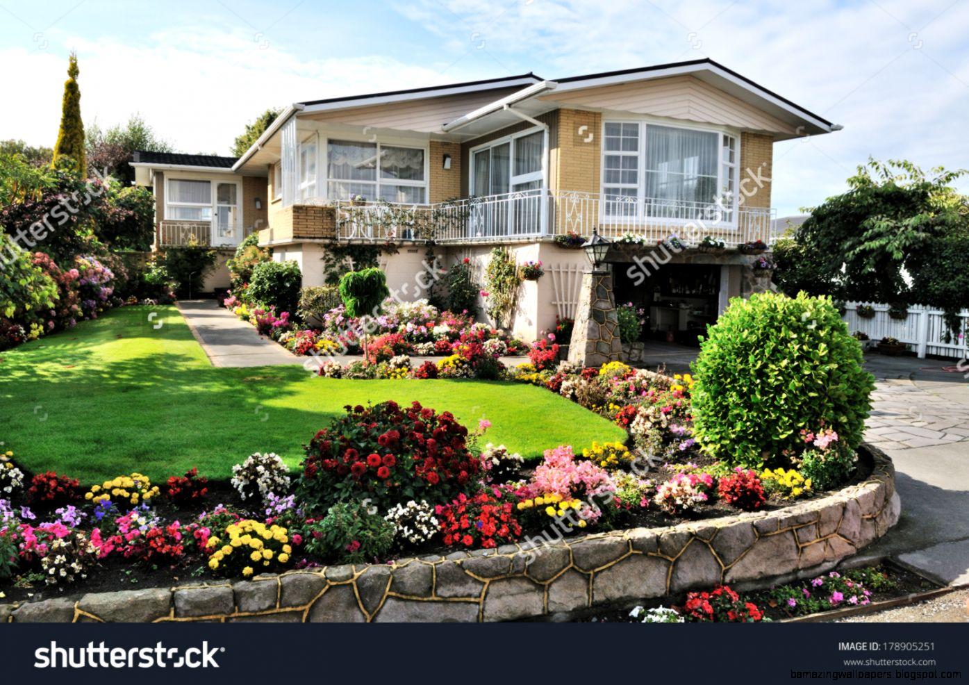 Beautiful Flowers Garden House Amazing Wallpapers