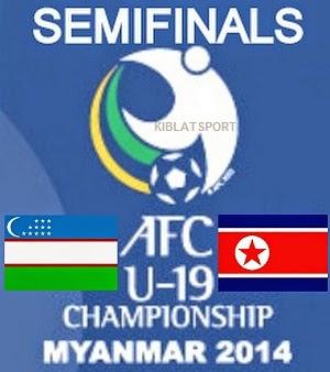 Jadwal & Hasil Pertandingan Uzbekistan Vs Korea Utara, Babak Semifinal Piala Asia U-19 2014 Myanmar