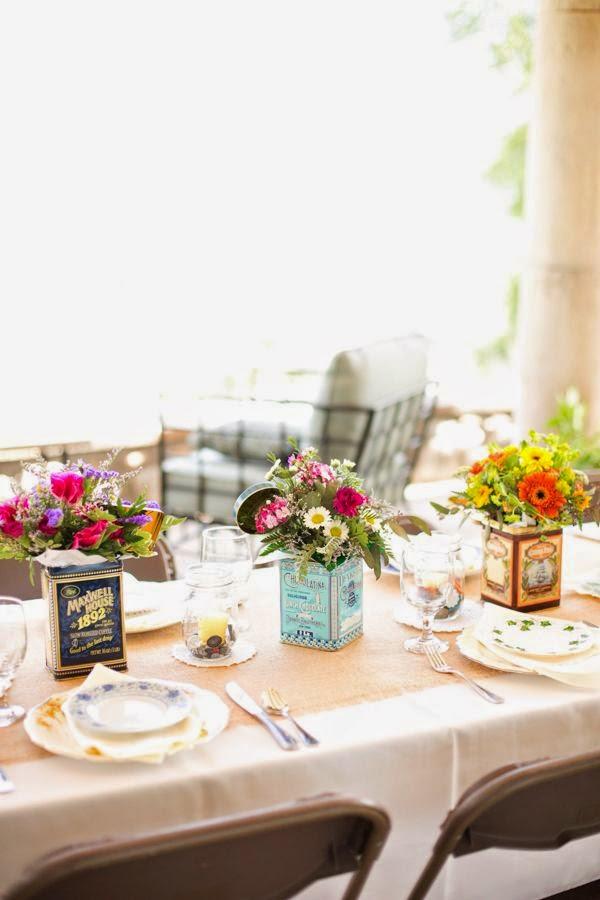 10 centros de mesa para bodas vintage for Mesas de centro vintage