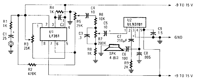 Simple Portable Amplifier Circuit Diagram