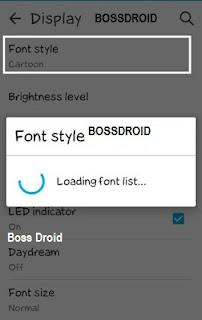 Cara Merubah Font Style ASUS ZENFONE Tanpa Root