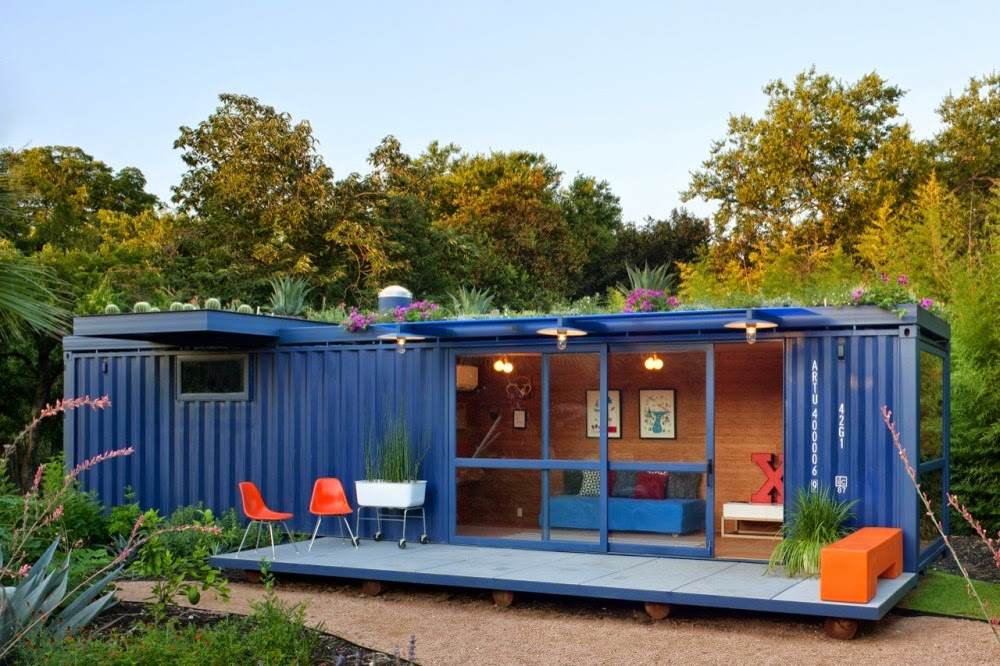 2.) Blue container? Run with it! - All You Need is Around $2000 to Begin Building One of These Epic Homes – Made From Recycled Shipping Containers!
