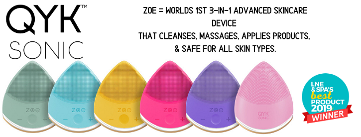 ZOE® The world's first 3-in-1 cleansing, massaging, and anti-aging brushless silicone sonic skincar