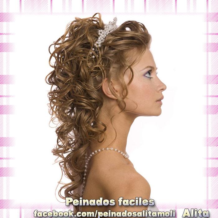 Peinados cascadas para novias