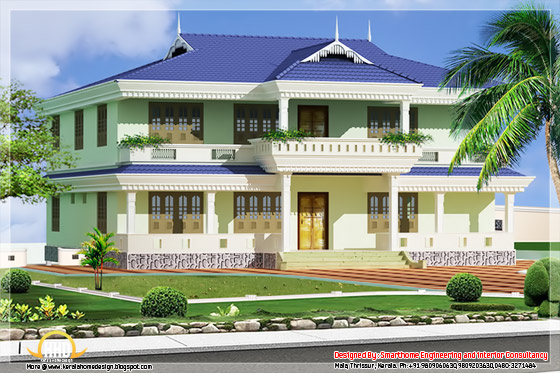 1976 square feet 3 bedroom Kerala home design