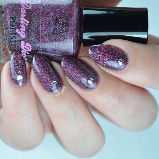 wine colored holographic nail polish