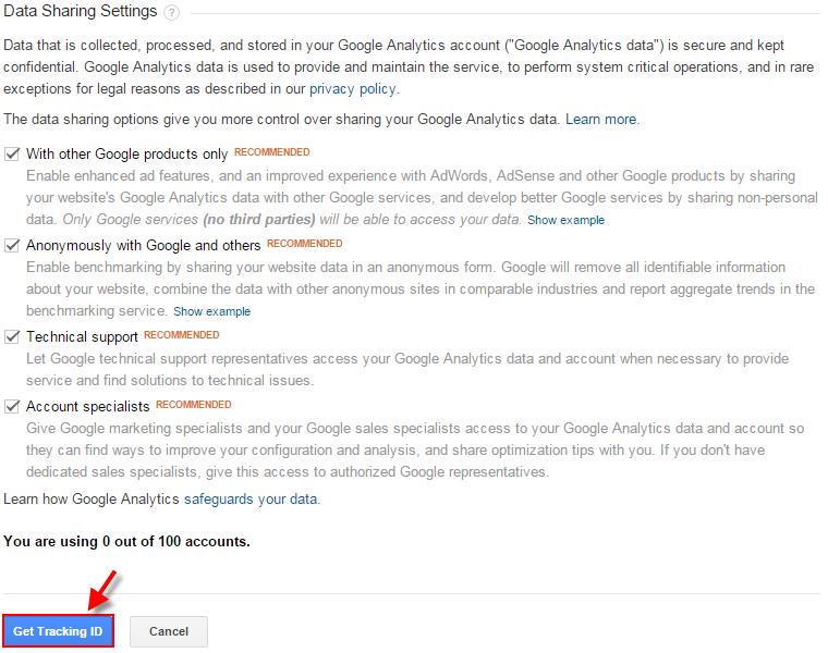 cara mendapatkan tracking kode google analitic