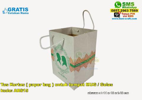 Tas Kertas Paper Bag Untuk Tempat Mug Gelas