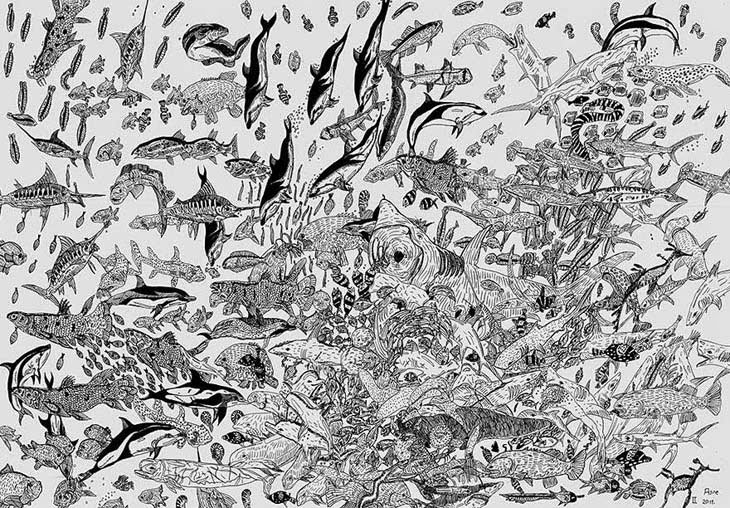 11-Year Old Child Prodigy Creates Stunningly Detailed Drawings Bursting With Life