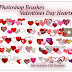 Huge Collection of Heart Photoshop Brushes for Valentines Day