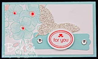 Cute card from the My Little Valentine Basket of Cards by Stampin' Up! Demonstrator Bekka Prideaux