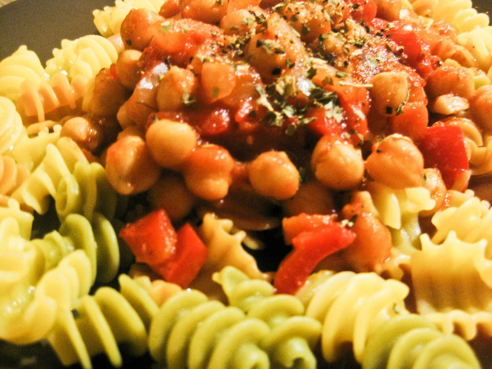 red sauce with chickpeas? Ummm. Yeah!