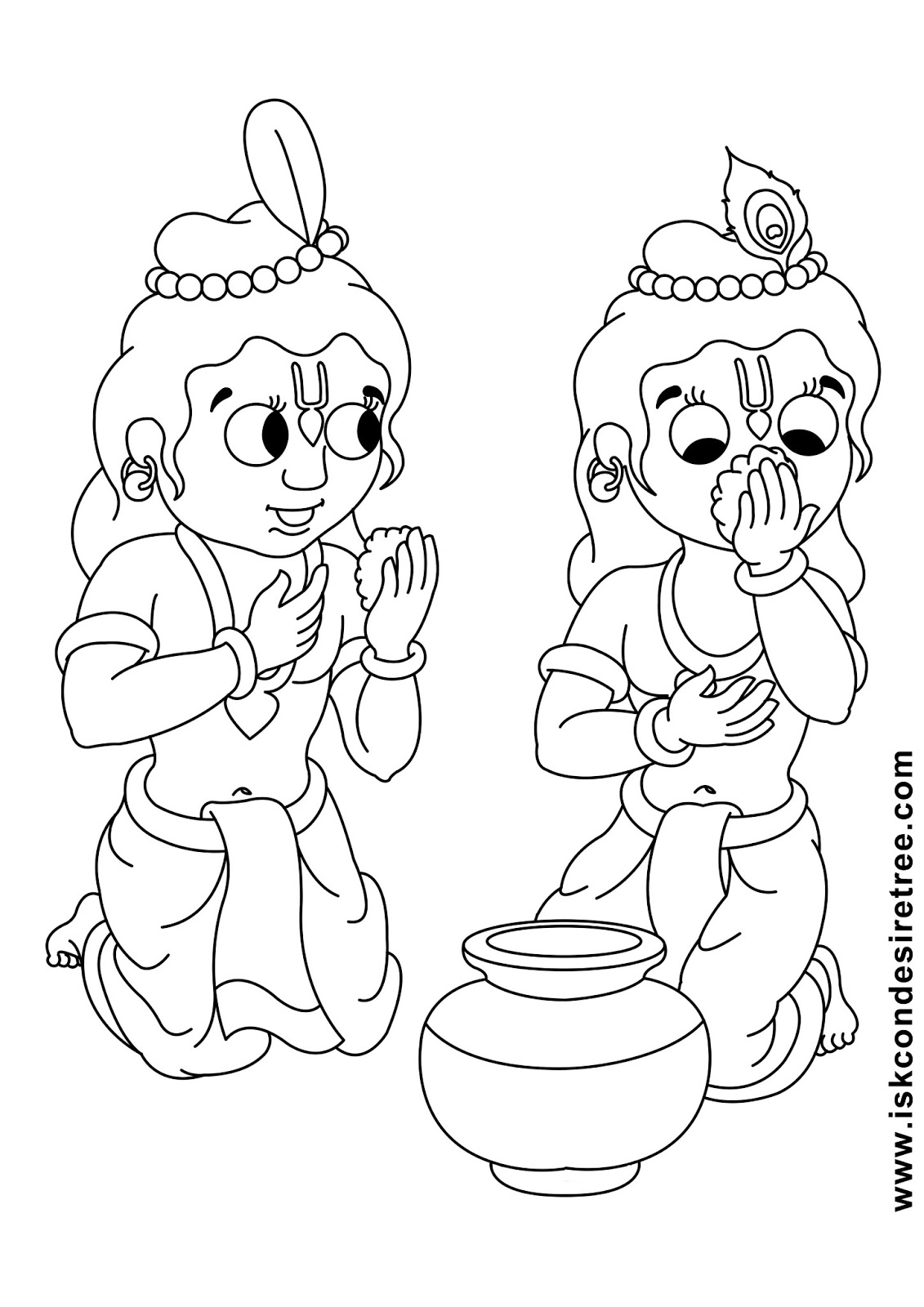 Line Drawing Krishna : Bhagavat chintan das bhikaji sri krishna balarama line