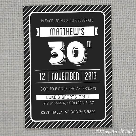 Adult birthday invitations 35 pretty examples jayce o yesta modern adult birthday invitation 30 via greysquare filmwisefo