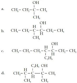 2-metil-2-butanol 4-metil 3-heksanol 2-heptanol 3-etil 2,4-dimetil 2-pentanol