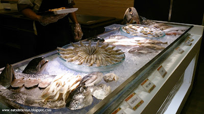 La Fiesta at MOA seafood selection