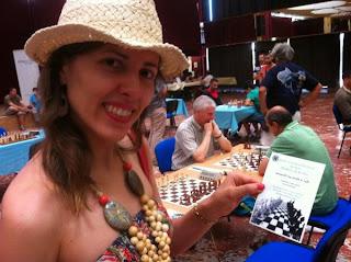 Tatiana Kostiuk découvre les équipes de France © Chess & Strategy