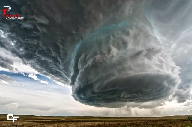 Time-Lapse Footage of a Supercell Thunderstorm