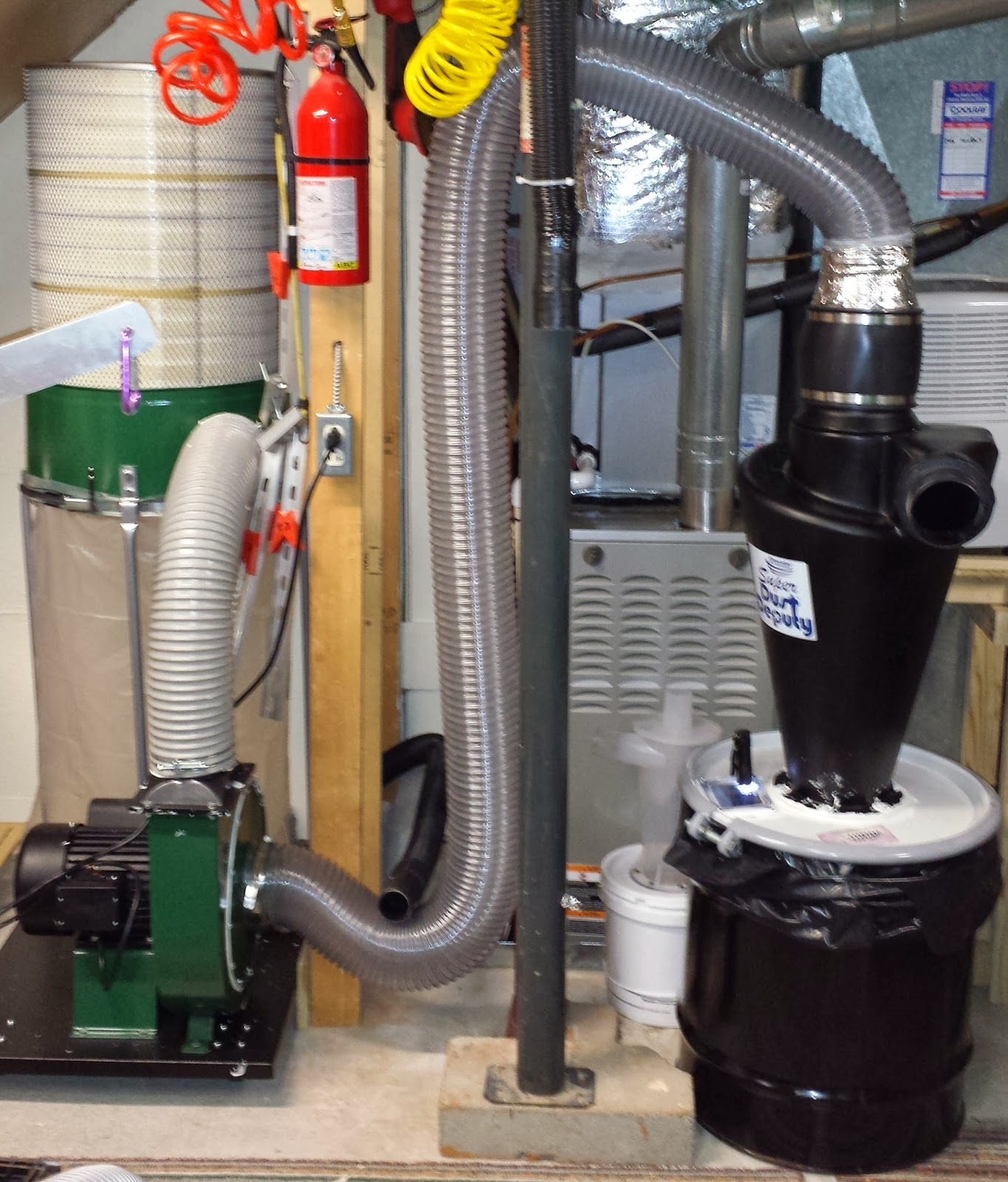 Dust Collection System : Lilly s crazy home woodshop super dust deputy review