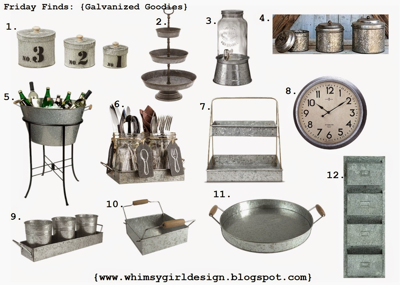 whimsy girl Friday Finds Galvanized Goodies