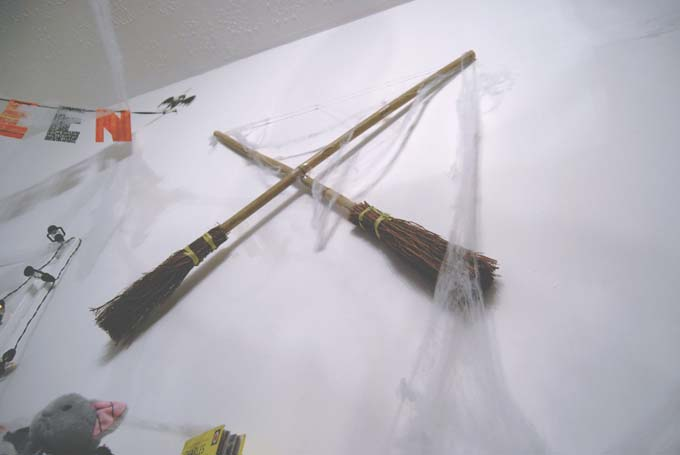 Broomstick Halloween decoration