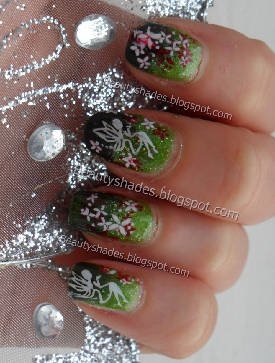 Stamping plate review and forest fairy nail art design beautyshades stamping plate review and forest fairy nail art design nail art prinsesfo Choice Image