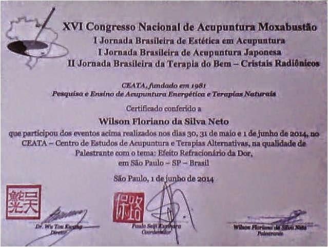 Minha Técnica de Tratamento reconhecida no XVI Congresso Nacional de Acupuntura 2014