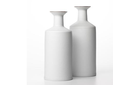 white porcelain bottles